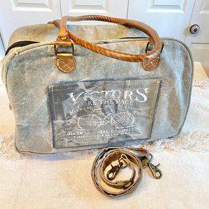 Vintage Look Rustic Tote/Laptop Bag